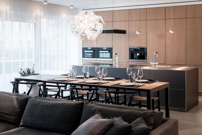 12 Lofts Dining Table Behind Sofa