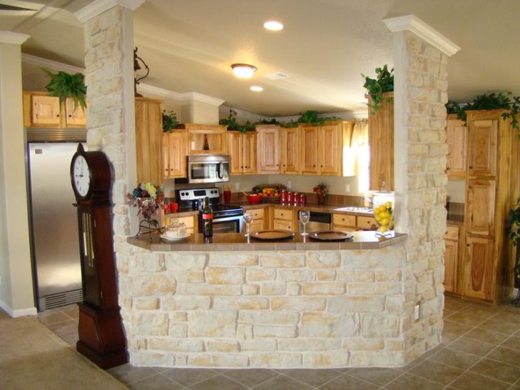 Stone Walled Modern Kitchen