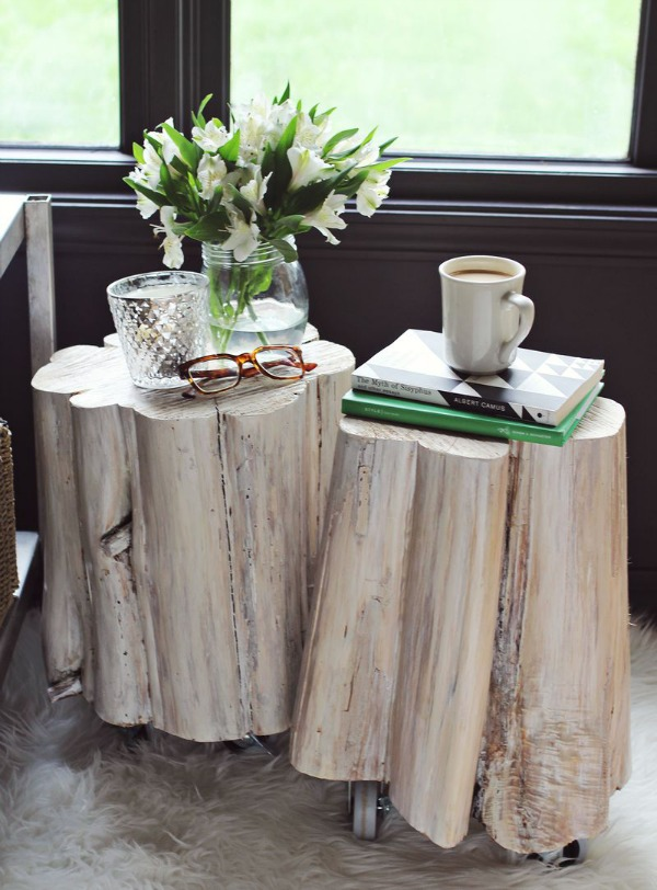 Simple Tree Trunk Center Piece